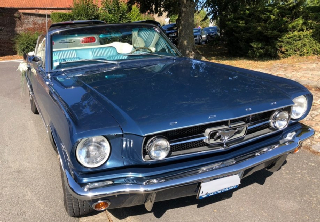 Ford Mustang 1965 Blue Caspian Metallic