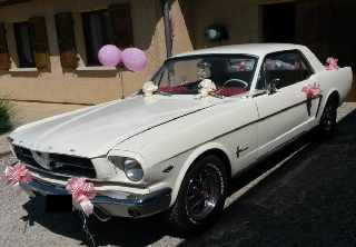 Location Ford Mustang  1965 créme