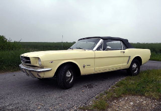 Location Ford mustang 1965 jaune venitien