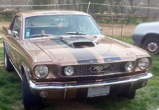 Location Ford mustang 1966 Havane- Bande noire