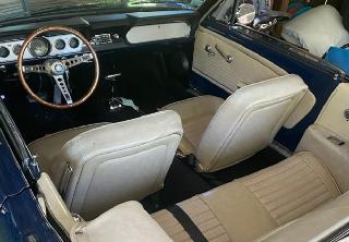 Location Ford Mustang  1966 Bleu