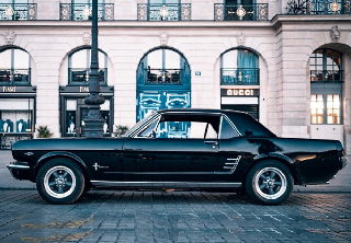 Location Ford mustang 1966 noir