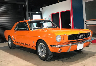 Ford Mustang 1966 Orange mécanique
