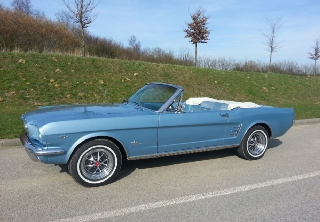 Ford Mustang 1966 Silver Blue