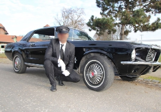 Location Ford Mustang 1967 Noire