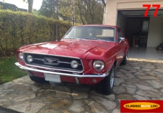 location ford mustang 1967 rouge 1967 rouge chelles. Black Bedroom Furniture Sets. Home Design Ideas