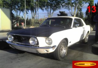 Ford Mustang 1968 Blanc/Noir