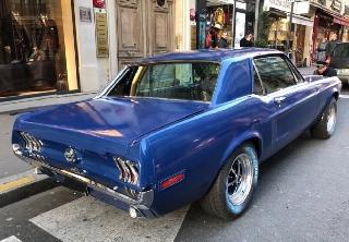 Location Ford Mustang 1968 Bleu