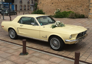 Ford MUSTANG 1968 JAUNE PALE