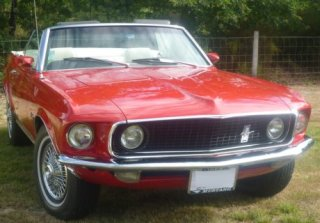 Location FORD MUSTANG 1969 ROUGE