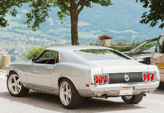 Location Ford Mustang 1970 Grise