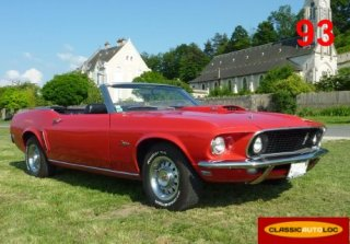 Ford Mustang Cabriolet 1969 Rouge