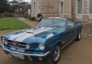 Ford Mustang fastback  1965 Bleu vert
