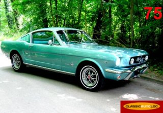 Ford Mustang Fastback 1965 bleu