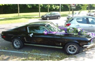Location FORD Mustang Fastback 1968 Noir