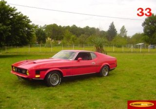 Location Ford Mustang Mach1 1971