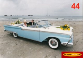 Ford Galaxie Skyliner 1959 Bleu Blanc