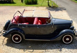 location ford usa deluxe phaetonv8 48 1935 1935 gris vesoul. Black Bedroom Furniture Sets. Home Design Ideas