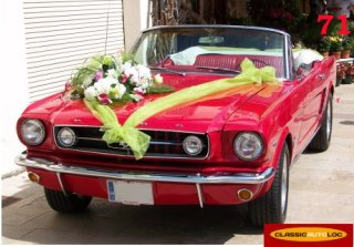 Location FORD USA MUSTANG 1965 ROUGE