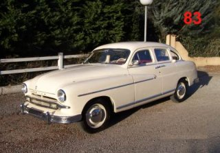 Ford Vedette 1954 Blanc