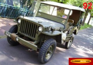 Jeep willys 1945 Bal moral Green