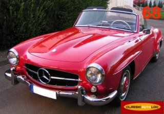 Mercedes 190 SL 1959 Rouge
