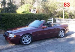 Mercedes 300 SL 1990 Bordeaux