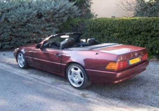 location mercedes 300 sl 1990 bordeaux 1990 bordeaux vidauban. Black Bedroom Furniture Sets. Home Design Ideas