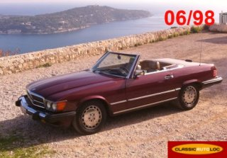 Mercedes 560 SL 1090 Bordeaux