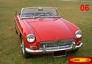 MG B Roadster 1965 Rouge