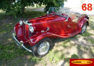mg td 1951 rouge - Location Voiture Mariage Haut Rhin