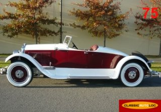 Packard Speed 6 Boat tail 1925 Blanc