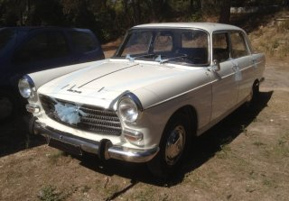 Peugeot 404 SL Injection 1967 Blanche