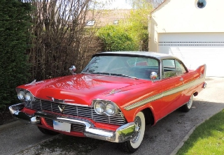 PLYMOUTH BELVEDERE 1958 ROUGE
