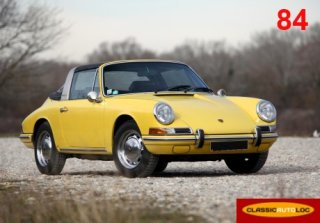 Porsche 912 Targa Soft Window 1968 Jaune