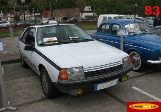 Renault fuego 1983 blanc for Garage renault bouc bel air