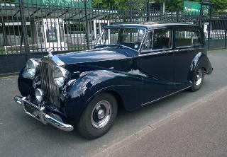 rolls royce silver wraith 1952 bleu nuit - Location Voiture Ancienne Mariage Pas Cher