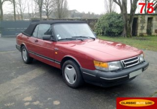 Saab 900 turbo 16 1988 rouge