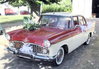 Simca Chambord 1960 Ivoire/Rouge