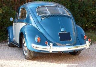 location volkswagen coccinelle 1961 bleu beige 1961 bleu. Black Bedroom Furniture Sets. Home Design Ideas