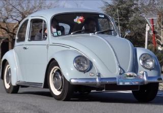 volkswagen coccinelle 1967 bleugris - Location Voiture Mariage Haut Rhin