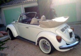 location vw coccinelle cabriolet 1976 blanc 1976 blanc roquebrune sur argens. Black Bedroom Furniture Sets. Home Design Ideas