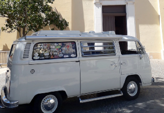 Volkswagen Combi bay window 1979 blanc