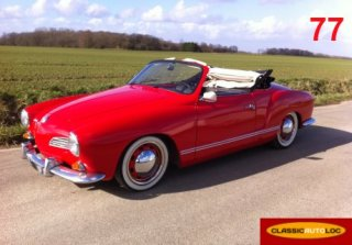 VW Karmann Ghia 1966 rouge