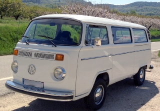 VW Combi 8 places 1978 Blanc
